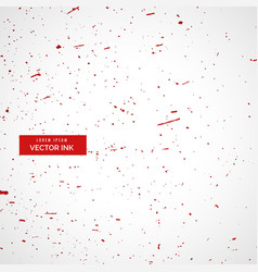 red ink or blood splatter splashes texture vector image vector image