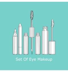 Set of eye makeup vector