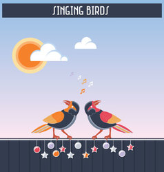 Singing birds vector image vector image