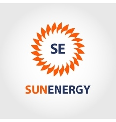 sun energy logo energy efficiency eco vector image vector image