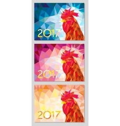 Symbol 2017 fire cock poligonal background three vector
