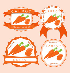 the theme carrot vector image