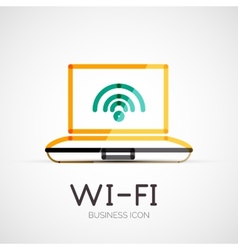Wifi company logo business concept vector