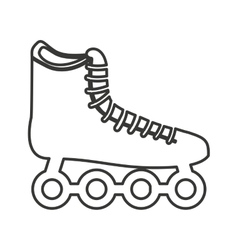 Skate shoe wheel icon vector
