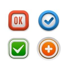 Ok button set vector image