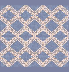 violet canvas seamless pattern beige rhombus vector image