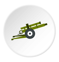 Artillery gun icon circle vector