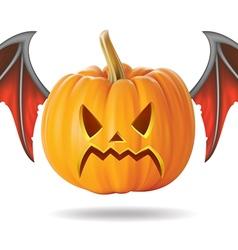 angry pumpkin2 vector image