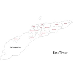 Contour east timor map vector