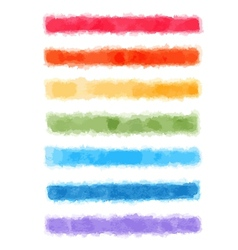 Watercolor rainbow banners vector