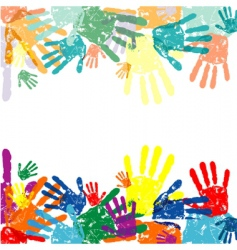 hand prints background vector