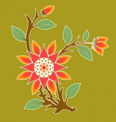 floral expression vector image