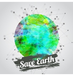 Modern for earth day with vector