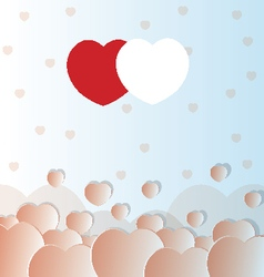 Valentine love hearts vector