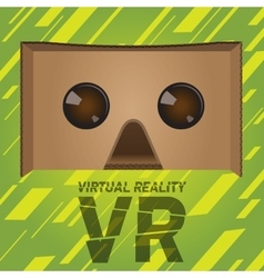 Original virtual reality cardboard headset device vector
