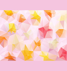 abstract irregular polygon background sweet pink vector image vector image