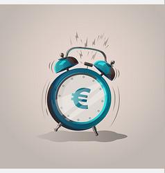 Alarm clock euro vector