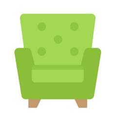 armchair flat icon furniture and interior vector image