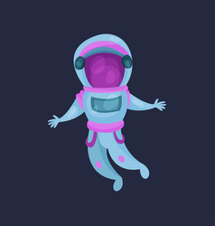 astronaut character in space suit spaceman flying vector image