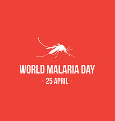 Background for world malaria day vector