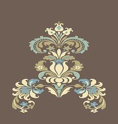 Colorful damask floral element design pattern back vector