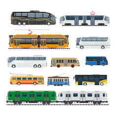 comfortable modern public transport big isolated vector image