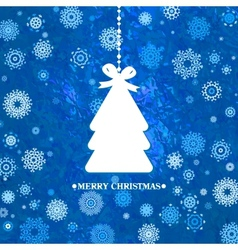 Decorated blue christmas tree eps 8 vector