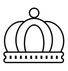 Empire crown icon outline line style vector