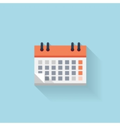 Flat web internet icon calendar date and time vector