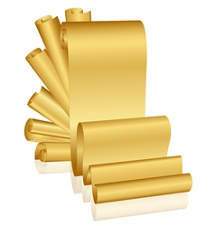 gold scrolls vector image
