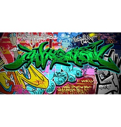 Graffiti wall vector image