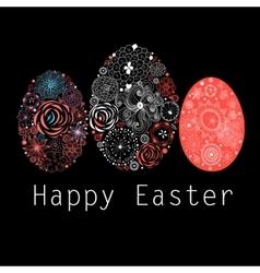 Interesting ornamental easter eggs vector