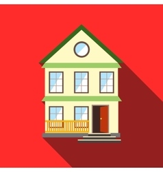 Lovely house icon flat style vector image