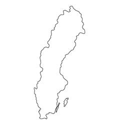 Map of sweden vector