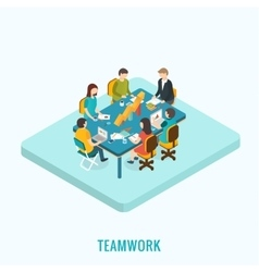 Meeting and teamwork concept vector image vector image