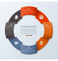 Modern infographics circle vector image vector image