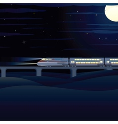 Night Express vector image vector image