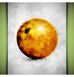 Orange watercolor vector image vector image