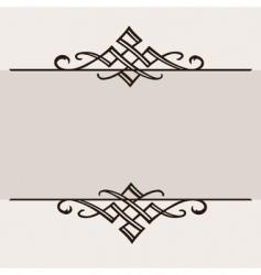 Ornament border vector
