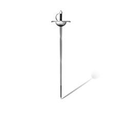 Rapier sword on white background vector