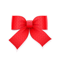 red bow decorative element vector image vector image