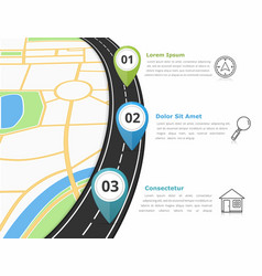 road infographics vector image vector image