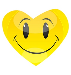 smiley heart vector image