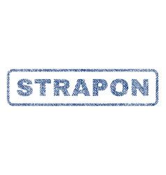 Strapon textile stamp vector
