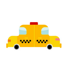 taxi cartoon style isolated transport on white vector image