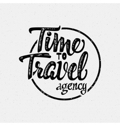 Time to travel tourist agency vector