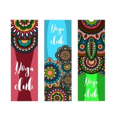 Vertical banner for yoga club vector image