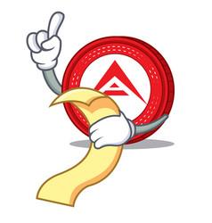 With menu ark coin mascot cartoon vector