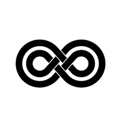 Black infinity crossed lines logo vector