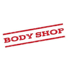 Body shop watermark stamp vector
